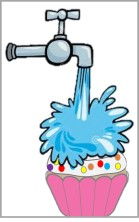 Water on Cupcake